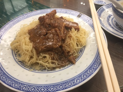Beef brisket and noodles